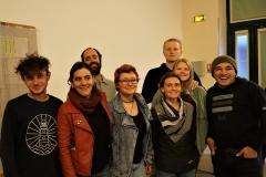 équipe de l'association et les jeunes volontaires