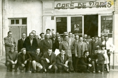 Club taurin « L'Abrivado » Repas du taureau à la corde le 9 février 1958 au café de Paris chez Louis Gayaud