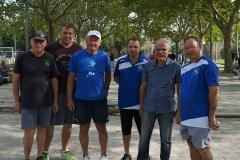 équipes triplette de jeu Provençal