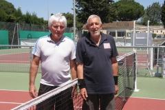 +55 ans Homme, Victoire de Jean Yves Dubois (Tc Vauvert ) face Jacques Tirel (Tc Beauvoisin) 61 - 30 ab