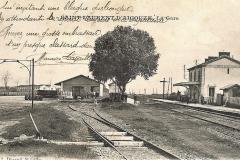 05_gare de St Laurent d'Aigouze 1912,avec hangar à vins et gabarit pour wagon-citerne