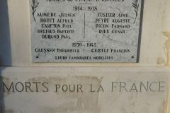 Monument aux morts Franquevaux