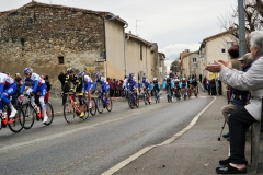 Passage des coureurs cyclistes