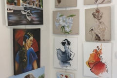 06 expo Marie-France Saquet et Bernadette Jahan à la capitainerie