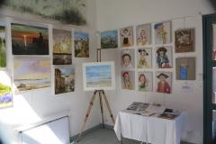 07 expo Marie-France Saquet et Bernadette Jahan à la capitainerie