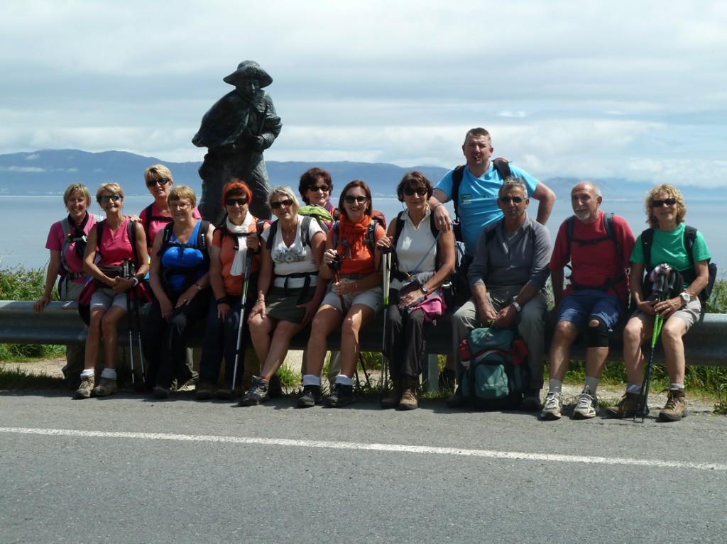 Photo du groupe à St-Jacques-Baie-de-Fisterra