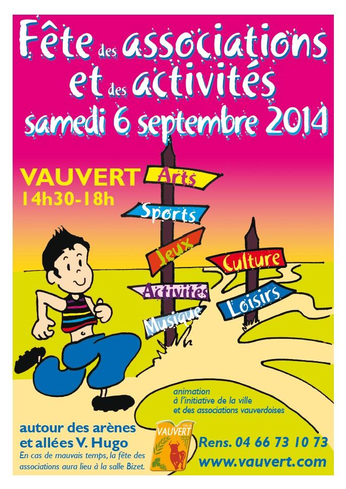 """<span style=""""color:#e80014; font-weight:bold;"""">Fête des associations<br/>et des activités</span><br />Allées Victor Hugo<br />de 14h30 à 18h00"""