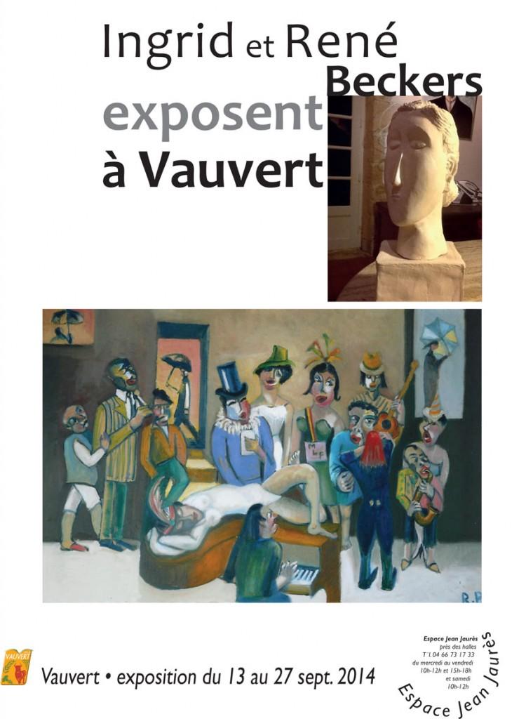 """<span style=""""color:#e80014; font-weight:bold;"""">Expo<br />Ingrid et René Beckers</span><br />Espace Jean Jaurès<br /><span style=""""font-style:italic;"""">du 13 au 27 septembre</span>"""