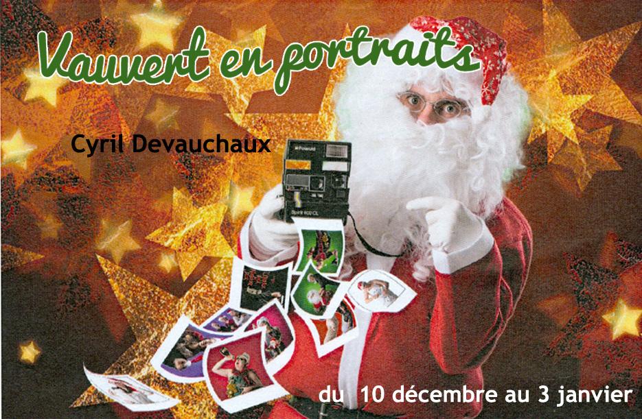 """<span style=""""color:#e80014; font-weight:bold;"""">Expo<br />Vauvert en portraits</span><br />Espace Jean Jaurès<br /><span style=""""font-style:italic;"""">du 10 décembre au 3 janvier"""