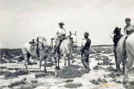 Aux Bruns en 1945, Fanfonne et Gaston Lousthau (Col. Robert Faure)
