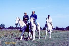 Armand, Jacques et Fanfonne au Cailar en 1983 Photo © Robert Faure