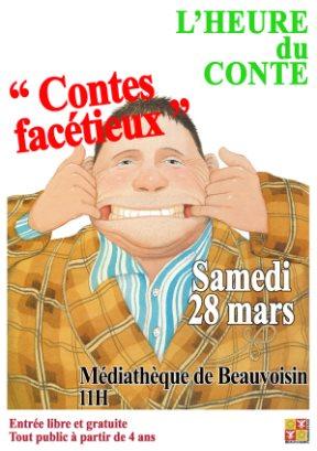 """<span style=""""color:#e80014; font-weight:bold;"""">L'Heure du conte</span><br />Médiathèque de Beauvoisin<br /><span style=""""font-style:italic;"""">à 11h00</span>"""