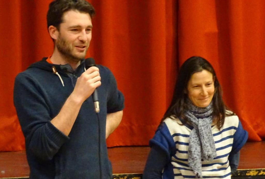 Le réalisateur, Erik Fretel, et Sophie Ressouche, directrice du syndicat