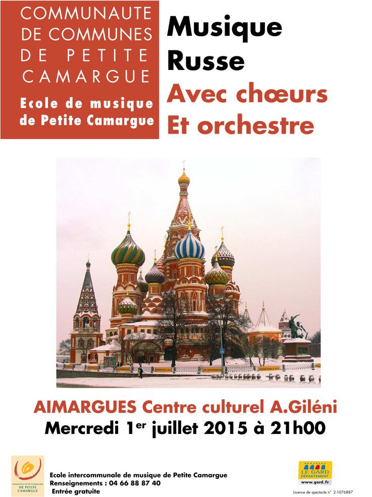 "<span style=""color:#e80014; font-weight:bold;"">Concert<br />Musique Russe</span><br />Centre culturel<br />Aimargues<br /><span style=""font-style:italic;"">à 21h00</span>"