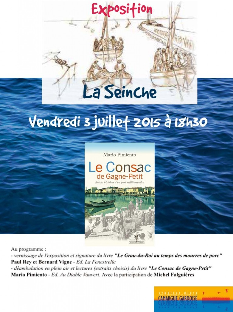 "<span style=""color:#e80014; font-weight:bold;"">Exposition<br />La Seinche</span><br />Centre du Scamandre<br /><span style=""font-style:italic;"">à 18h30</span>"