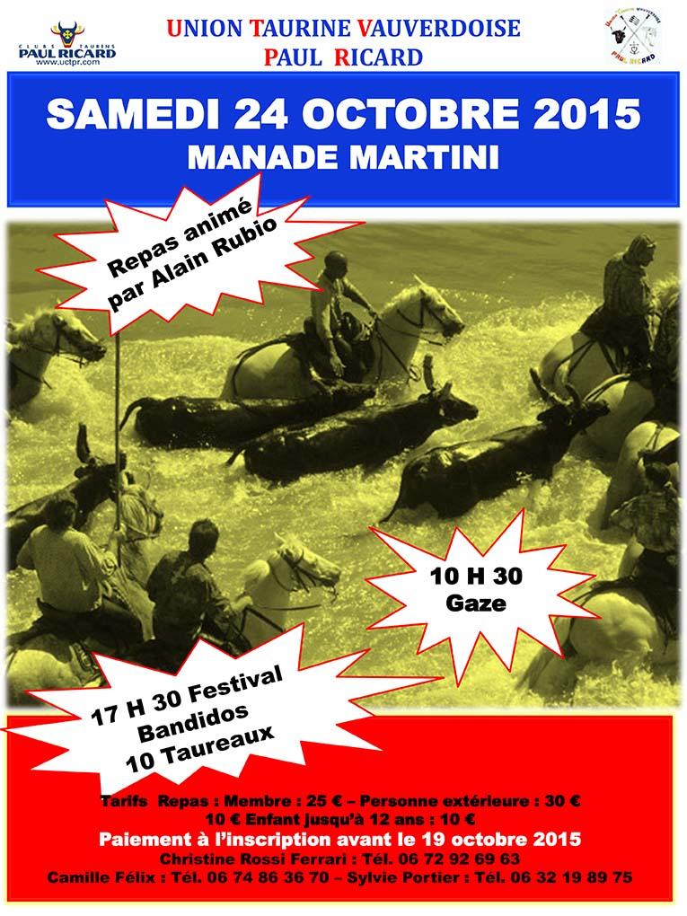 "<span style=""color:#e80014; font-weight:bold;"">Journée Union Taurine Vauverdoise</span><br />Manade Martini"