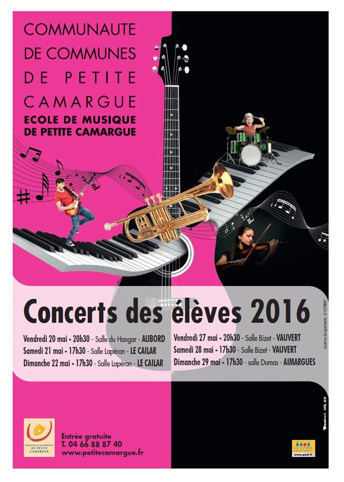 """<span style=""""color:#e80014; font-weight:bold;"""">Concert des élèves<br />Ecole de Musique</span><br />Salle Bizet<br />Vauvert<br /><span style=""""font-style:italic;"""">à 20h30</span>"""