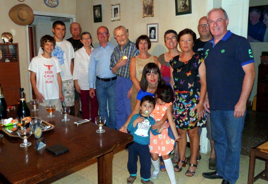 André Guigon et sa famille le 26 juillet 2014