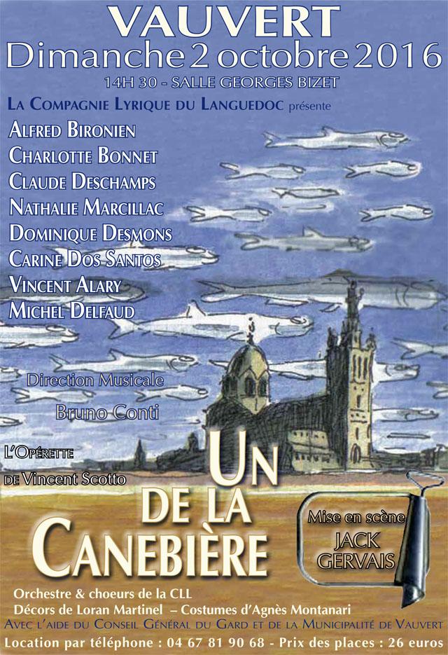 """<span style=""""color:#e80014; font-weight:bold;"""">Opérette<br />Un de la Canebière</span><br />Salle Georges Bizet<br /><span style=""""font-style:italic;"""">à 14h30</span>"""