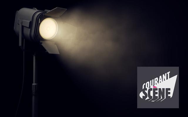 Stage spotlight in dark background