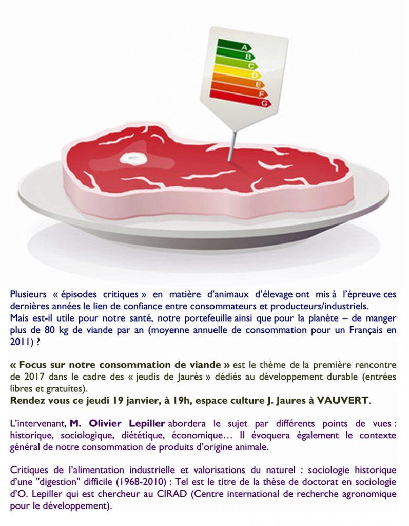 """<span style=""""color:#e80014; font-weight:bold;"""">Rencontre<br />""""Jeudis de Jaurès""""</span><br />Espace Jean Jaurès<br /><span style=""""font-style:italic;"""">à 19h00</span>"""