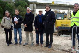 Les élus et responsables de la CCPC en visite sur le chantier