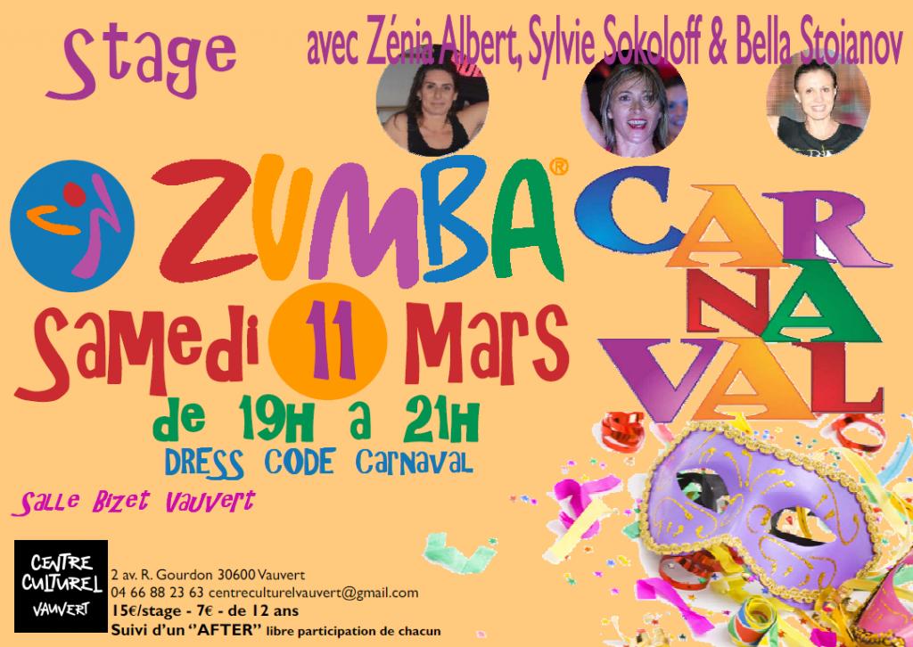 "<span style=""color:#e80014; font-weight:bold;"">Stage Zumba</span><br />Salle Bizet<br /><span style=""font-style:italic;"">de 19h00 à 21h00</span>"