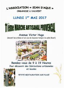 Marché artisanal Provençal @ Devant les arènes à Vauvert
