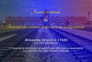 Journée nationale de la déportation @ Stèle Jean Moulin à Vauvert