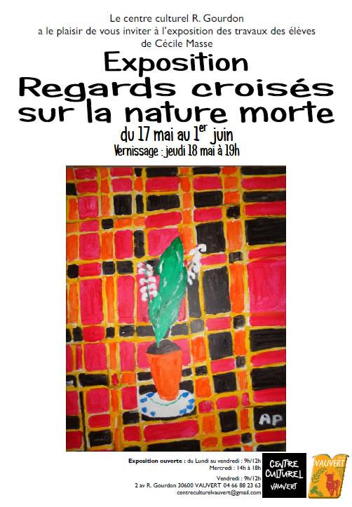 Expo Regards Croisés sur la nature morte @ Centre culturel Robert Gourdon à Vauvert