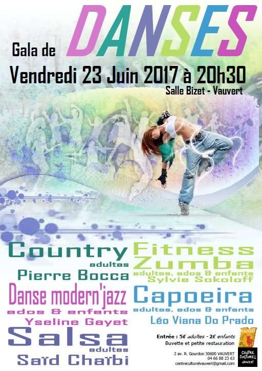 Gala de danses @ Centre culturel Robert Gourdon à Vauvert