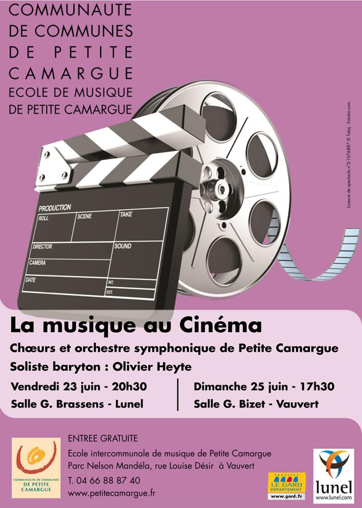La musique au Cinéma @ Salle Bizet à Vauvert