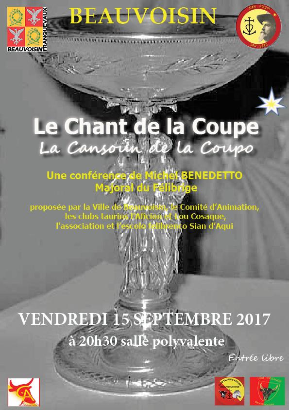 """Conférence """"La chanson de la coupe"""" @ Salle polyvalente de Beauvoisin"""