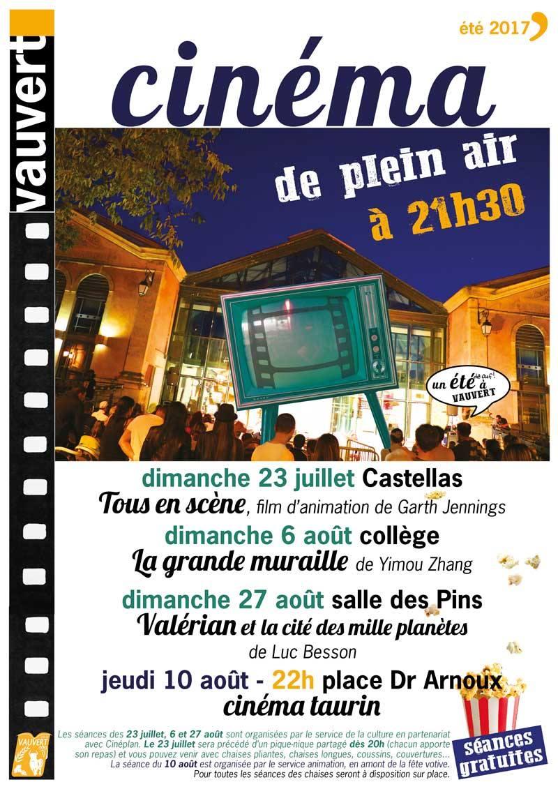 Cinéma de plein air @ Dalle des pins à Vauvert