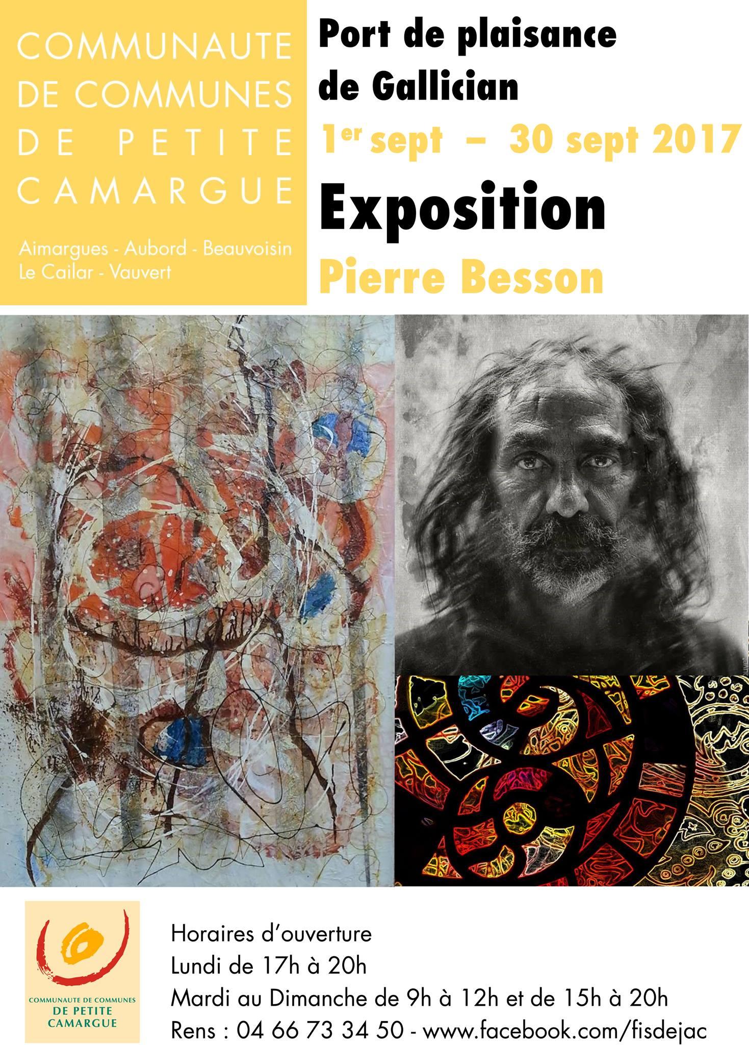 Exposition Pierre Besson @ Port de plaisance de Gallician   Vauvert   Occitanie   France
