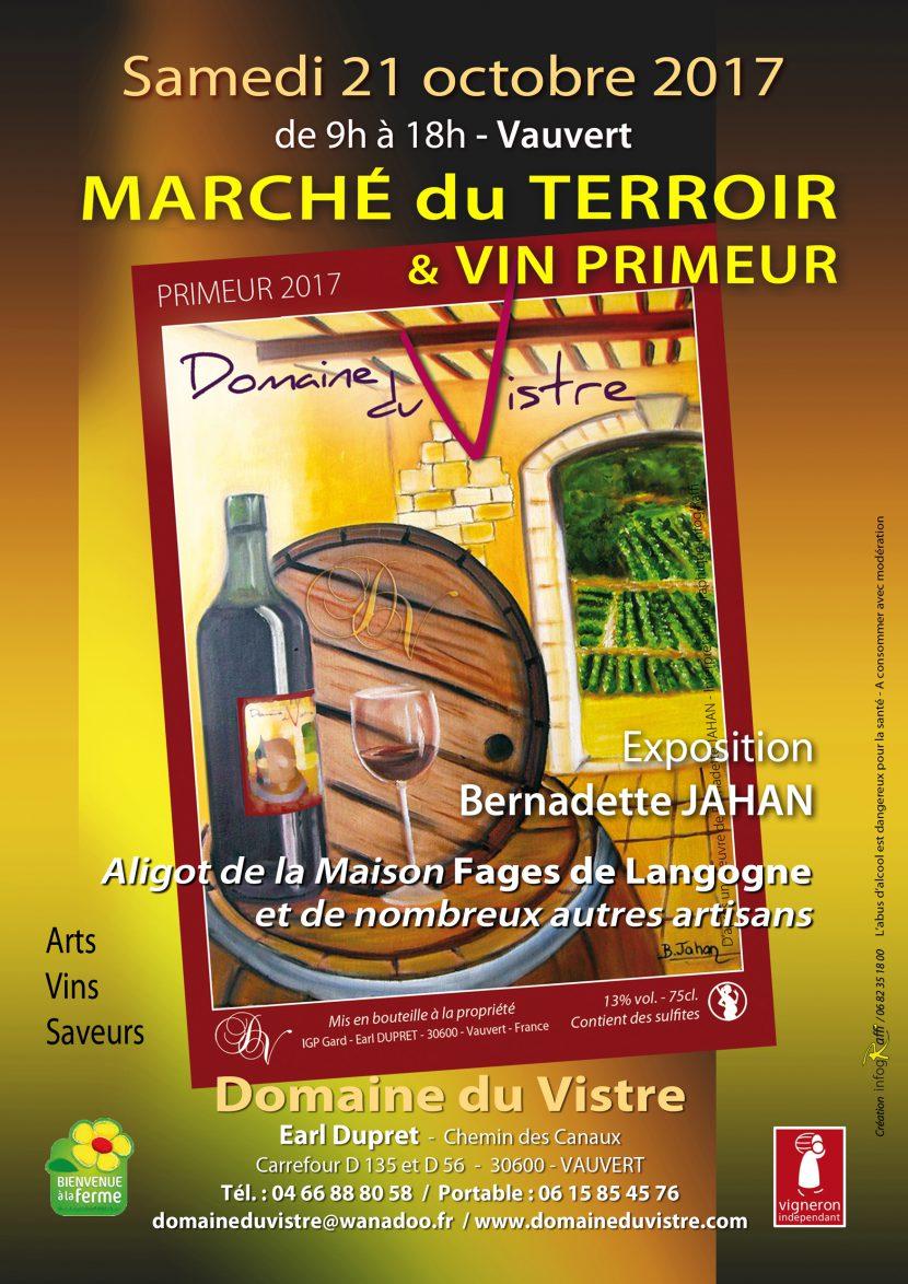 Marché du terroir Arts Vins et Saveurs @ Domaine du Vistre à Vauvert