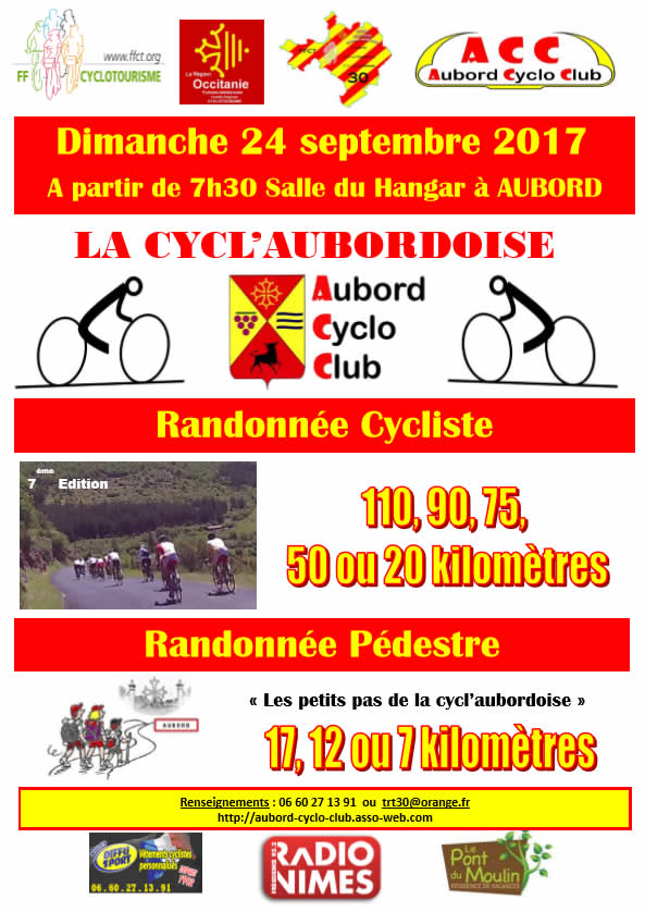 Randonnée cycliste La cyclaubordoise @ Aubord