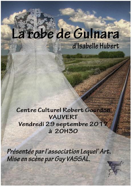 """Théâtre """"La robe de Gulnara"""" @ Centre culturel R-Gourdon à Vauvert"""