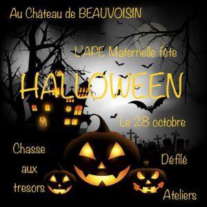 BEAUVOISIN : APE maternelle fête HALLOWEEN @ Chateau de Beauvoisin