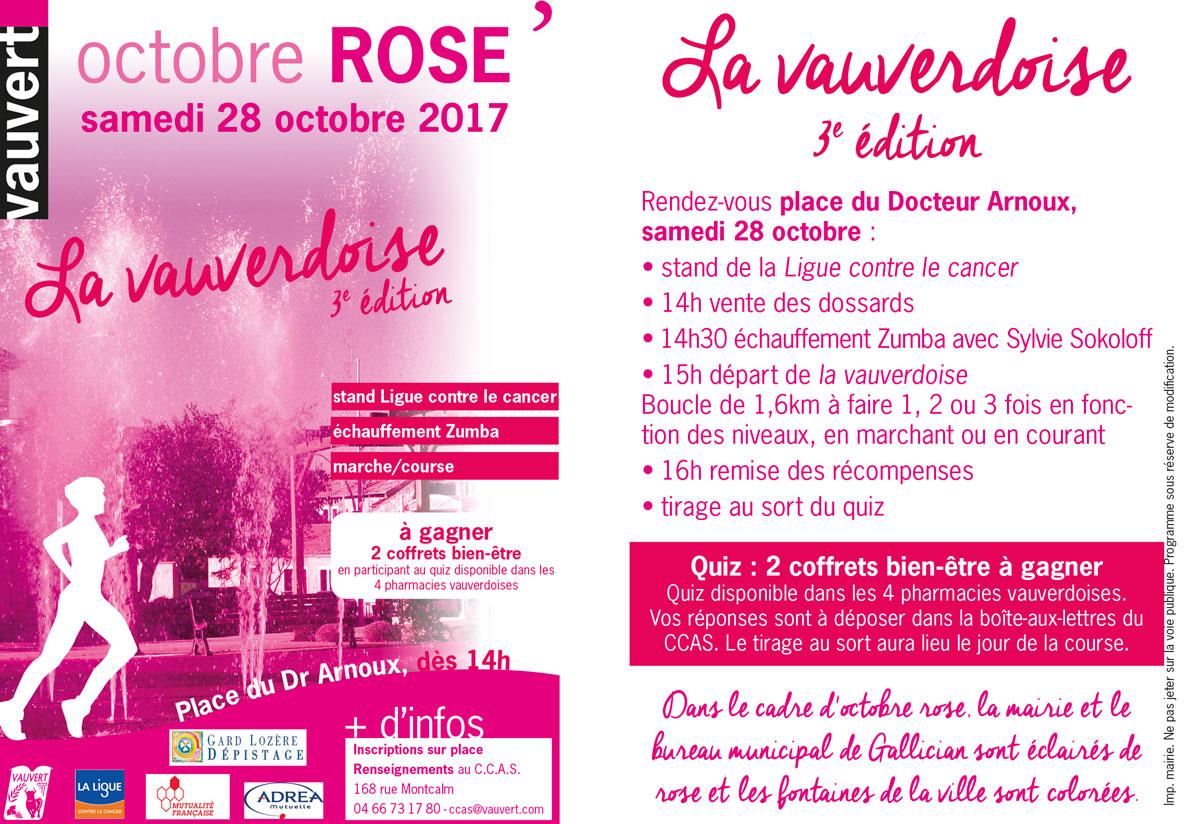 """Octobre Rose """"La vauverdoise"""" @ Place du Dr Arnoux à Vauvert"""