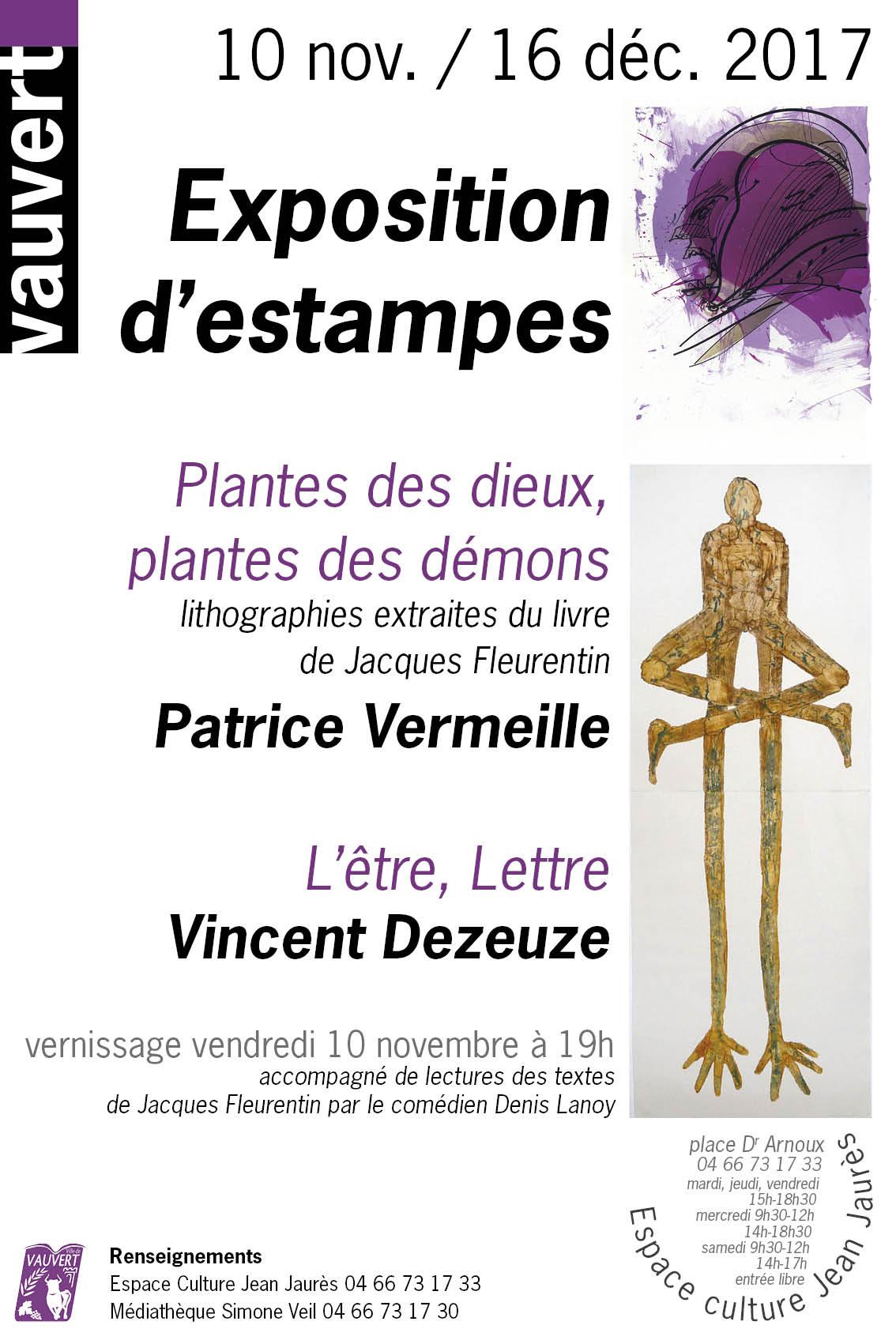 Exposition d'estampes @ Espace culture Jean Jaurès à Vauvert