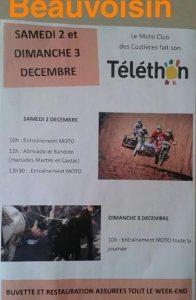 téléthon moto club Beauvoisin