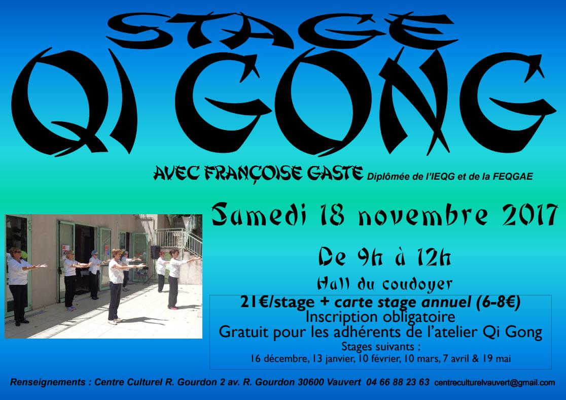 Stage Qi Gong @ Centre culturel R-Gourdon à Vauvert