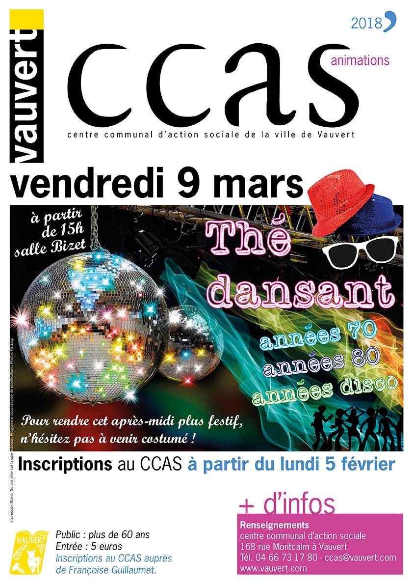 Thé dansant du CCAS @ Salle Bizet à Vauvert | Vauvert | Occitanie | France