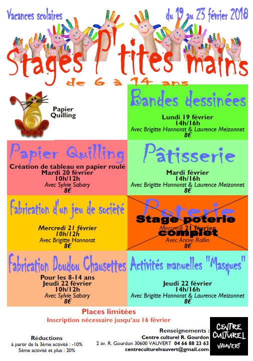 Stages petites mains @ Centre culturel R-Gourdon à Vauvert | Vauvert | Occitanie | France