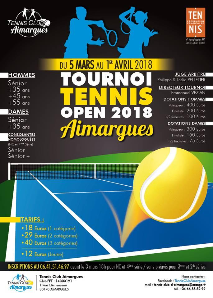 Open de Tennis 2018 d'Aimargues @ Terrain de tennis d'Aimargues | Aimargues | Occitanie | France