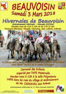 Hivernales de Beauvoisin entraînement abrivado/ carnaval des enfants @ Beauvoisin