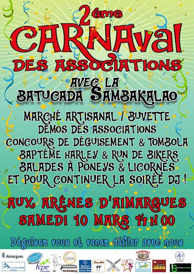 Carnaval des associations d'Aimargues @ Aux arènes d'Aimargues | Aimargues | Occitanie | France