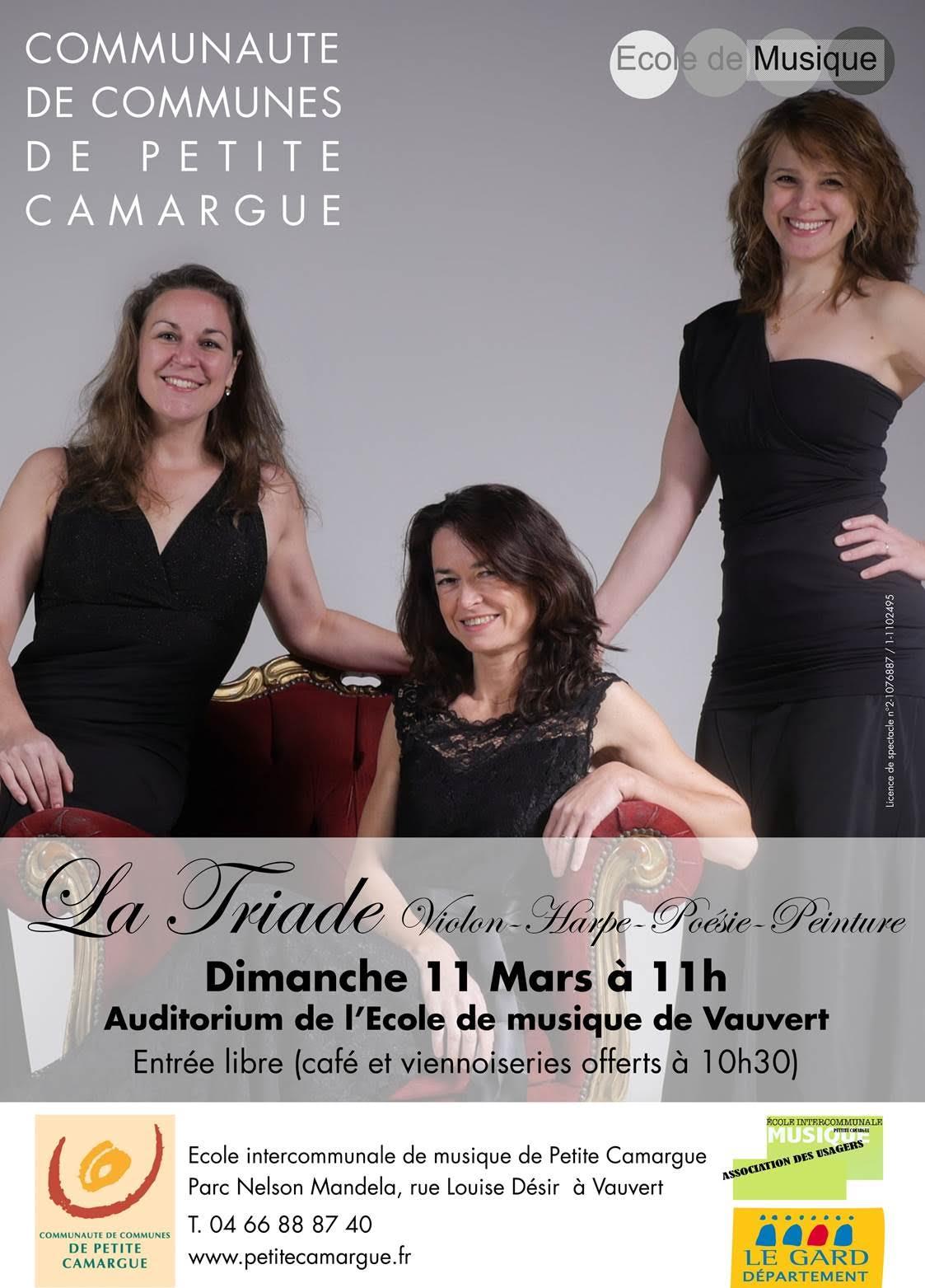 Concert La triade @ Auditorium de l'école de musique à Vauvert  | Vauvert | Occitanie | France