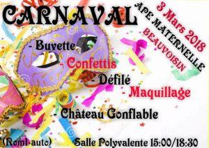 Beauvoisin : Carnaval APE maternelle @ BEAUVOISIN Salle Polyvalente | Beauvoisin | Occitanie | France